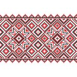 刺绣 乌克兰国家装饰品 免版税库存图片