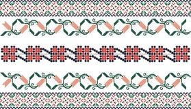 刺绣启发了无缝的样式 免版税库存图片
