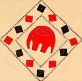 刺绣和十字绣设计 免版税图库摄影