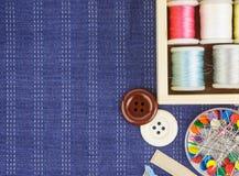 刺绣工具 免版税库存照片