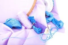 刺绣工具 图库摄影
