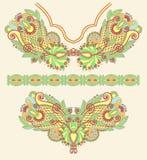 刺绣方式例证领口向量 免版税库存照片