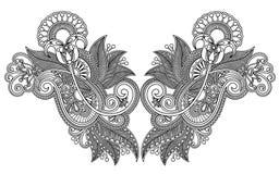 刺绣方式例证领口向量 免版税库存图片