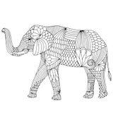 刺绣样式大象 免版税库存图片