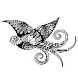 刺绣样式燕子 免版税库存图片