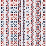 刺绣的传统俄国装饰品在衣裳 库存例证