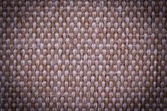刺绣的自然亚麻制织品 米黄,棕色颜色 图库摄影