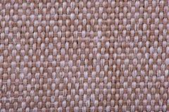 刺绣的自然亚麻制织品 米黄,棕色颜色 库存照片