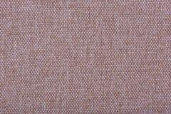 刺绣的自然亚麻制织品 米黄,棕色颜色 免版税库存图片