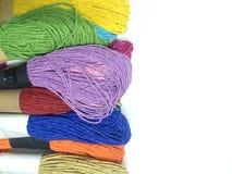 刺绣的织品 库存照片