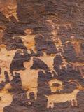 刻在岩石上的文字南犹他 库存图片