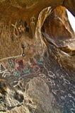 刻在岩石上的文字 库存照片