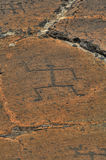刻在岩石上的文字puako 免版税库存图片