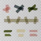 刻痕,橡皮膏在透明背景编结 您的网络设计的传染媒介例证 库存例证