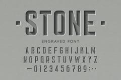 刻记在石字体 皇族释放例证