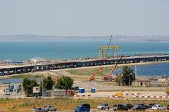 刻赤海峡桥梁建筑 俄国 库存照片