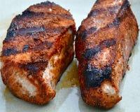 剁烤了猪肉 免版税库存照片