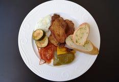 剁烤猪肉 免版税库存图片