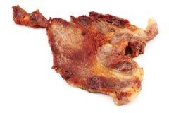 剁猪肉 免版税图库摄影