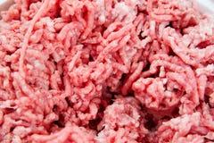剁碎的猪肉和牛肉 免版税库存照片