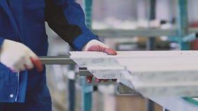 削减与圆的锯的工作者PVC配置文件 影视素材