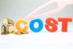 削减成本 免版税库存图片