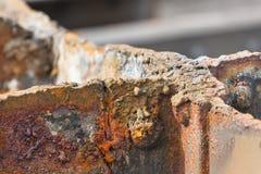 削减生锈的钢细节 免版税库存图片