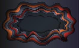 削减纸3D艺术万圣夜 免版税库存图片