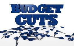 削减预算和严肃 免版税图库摄影