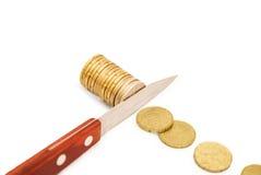削减预算,储款,后退的概念 免版税库存照片