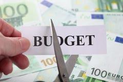 削减预算 免版税库存图片