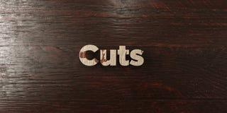 削减-在槭树的脏的木标题- 3D被回报的皇族自由储蓄图象 免版税库存照片