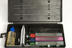 削尖成套工具的刀子 库存照片