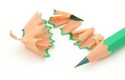 削尖4支色的铅笔 免版税库存图片