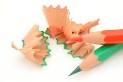 削尖5支色的铅笔 免版税库存图片
