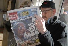 前丹麦部长ANJER约恩森是死的 免版税图库摄影