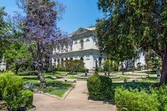 前全国代表大会大厦,圣地亚哥de智利 库存图片