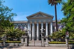 前全国代表大会大厦,圣地亚哥de智利 免版税库存图片