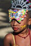 前四旬斋狂欢节庆祝在农村Robillard,海地 库存照片