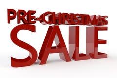 前圣诞节销售额 免版税库存图片