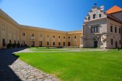 前城堡、大别墅和现在一个博物馆在Polna 免版税库存照片