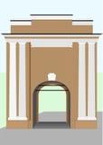 前堡垒的门 库存图片