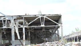 前工厂的废墟 影视素材