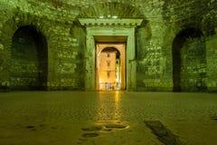前庭 皇帝Diocletian的宫殿 已分解 克罗地亚 库存图片