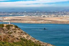 前往对海的潜水艇 库存照片