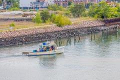 前往的渔夫 图库摄影