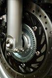前摩托车轮子 免版税库存图片