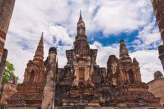 前整体塔破坏sukhothai 免版税库存图片