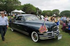 前方经典美国汽车 免版税库存照片
