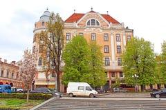 前旅馆布里斯托尔,切尔诺夫策,乌克兰 图库摄影